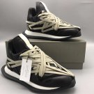 Men's Shoes Rick Owens Sneakers FW20 Performa Maximal Runner Shoes In Black Leather