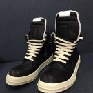 Men's Shoes Rick Owens Black Geobasket Sneakers