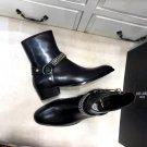 Men's Shoes Saint Paris Laurent Chain Harness Chelsea Ankle Boots