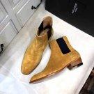 Men's Shoes Saint Paris Laurent Boots Amber Wyatt Chelsea Boots Brown Elastic Panels