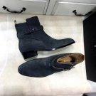 Men's Shoes Saint Paris Laurent Boots Wyatt Jodhpur Boots Buckle Belt Suede