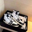 Men's Shoes Amiri Sneakers Skel Top Black White Leather Bones Applique