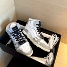 Men's Shoes Amiri Sneakers Runway Skel Top Grey White Leather Bones Applique Trainers