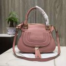 Paris Marcie Handbag Classic Marcie Pink Genuine Leather Handbag In Small Grain Calfskin