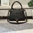 Designer Marcie Handbag Classic Medium Marcie Bag Black Genuine Leather Handbag Grain Calfskin