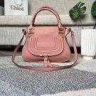 Designer Marcie Handbag Classic Medium Marcie Bag Pink Genuine Leather Handbag Grain Calfskin