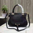 Designer Black Marcie Handbag Classic Medium Marcie Bag Genuine Leather Handbag Grain Calfskin