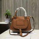 Designer Brown Marcie Handbag Classic Medium Marcie Bag Genuine Leather Handbag Grain Calfskin