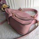 Designer Marcie Handbag Pink Classic Medium Marcie Bag Genuine Leather Tote Grain Calfskin