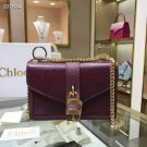 Designer Paris Aby Chain Genuine Leather Shoulder Bag Rock Roll Padlock Luxury Bag