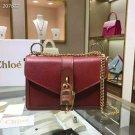 Designer Paris Aby Chain Red Genuine Leather Shoulder Bag Rock Roll Padlock Fashion Bag