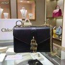 Designer Paris Aby Chain Black Genuine Leather Shoulder Bag Rock Roll Padlock Fashion Bag