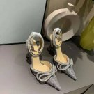 Women's Shoes Mach & Mach Pumps Double Crystal Bow Pumps Bling Bling Glitter Fashion