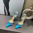 Women's Shoes Mach & Mach Pumps Double Crystal Bow Pointed Toe Pumps Blue