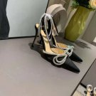 Women's Shoes Mach & Mach Pumps Double Crystal Bow Pointed Toe Wedding Pumps