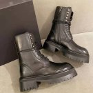 Women's Shoes Ann Demeulemeester Boots Black Genuine Real Original Leather Buckle Lace-up Boots