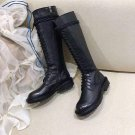 Women's Shoes Ann Demeulemeester Boots Tall Black Leather Lace-up Combat Boots