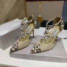 Women's Shoes Jimmy London Choo Pumps Saoni Crystal Pearl Embellished Pumps 100mm High Heels