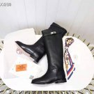 Women's Shoes Jumping Boots Kelly Genuine Real Original Black Leather Classic Boots