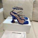 Women's Shoes Amina Muaddi Sandals Gilda Crystal Glitter Sandals Blue