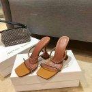 Women's Shoes Amina Muaddi Gilda Crystal Strap 10cm Heeled Sandals