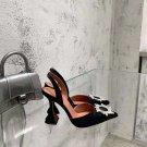 Women's Shoes Amina Muaddi Begum Pumps Satin Black