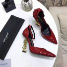 Women's Shoes Saint Opyum Serpent Ysl Logo Heel Sandals Laurent Paris Pumps Red