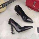 Women's Shoes Saint Opyum Pumps Laurent Ysl Logo Heel Paris Pumps Crocodile Pattern