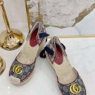 Women's Shoes Gg Sandals Espadrilles Wedges Platform Quilted Canvas Sandal Fashion
