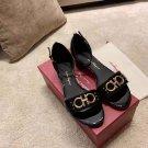 Women's Shoes 3.5cm Heel Italy Fashion Sandals Buckle Strap Luxury Black