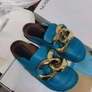 Women's Shoes Blue Jw Anderson Sandals Slide Mules Loafers Gold Chain