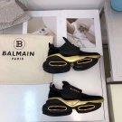 Women's Shoes Balmain Shoes Bbold Sneakers Black Leather Suede Paris Bbold Low Top Sneakers