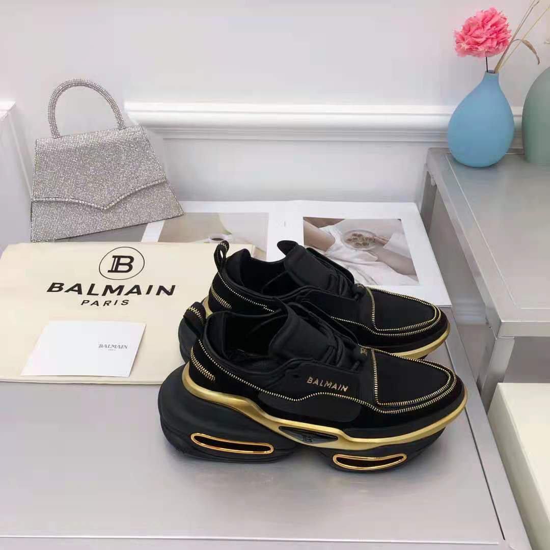 Women's Shoes Balmain Bbold Leather Sneakers Paris Trainers