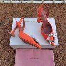 Women's Shoes Amina Muaddi Pumps Begum Embellished Satin Slingback Party Sandals