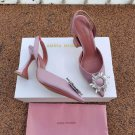 Women's Shoes Amina Muaddi Pumps Begum Crystal-embellished Satin Slingback Sandals Crystal