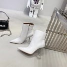 Women Shoes Amina Muaddi Ankle Boots Giorgia Napa Clear-Heel Ankle Booties