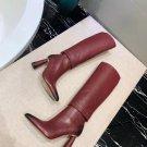 Women Shoes Jacquemus Les Bottes Pantalon Boots Knee Red Rare
