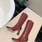 Women Shoes Jacquemus Boots Les Bottes Leon Hautes Boots Red