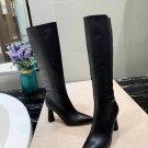 Women Shoes Jacquemus Boots Les Bottes Leon Hautes Boots Black Leather