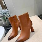 Women Shoes Jacquemus Ankle Boots Brown Leather Rare