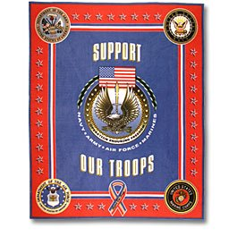 Support Our Troops Military Panel