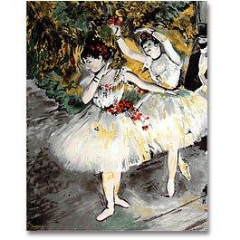 Degas Two Dancers Impressionism Panel