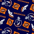 Denver Broncos Navy Blue Football 36x60