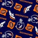 Denver Broncos Navy Blue Football 72x60