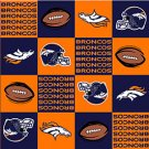 NFL Denver Broncos Orange Football 36x60