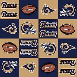 NFL St. Louis Rams Football 72x60