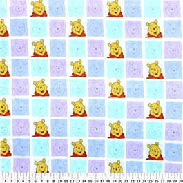 Pooh Blocks on Multi Color 72x60