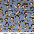 Betty Boop Aerobics on Bright Blue 36x60