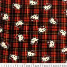 Hello Kitty On Red Plaid 72x60