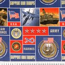 Support Our Troops Allover 72x60